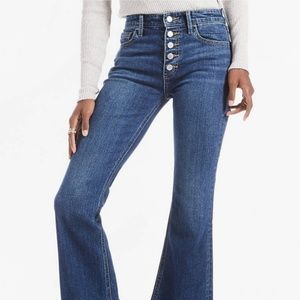 NWT Lucky Brand high rise flare jeans